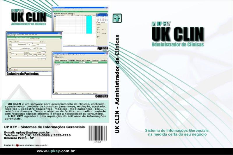 Encarte DVD do Software UK CLIN  - Designer Gráfico