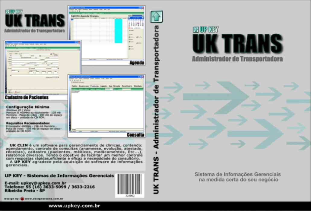 Encarte DVD do Software UK TRANS  - Designer Gráfico