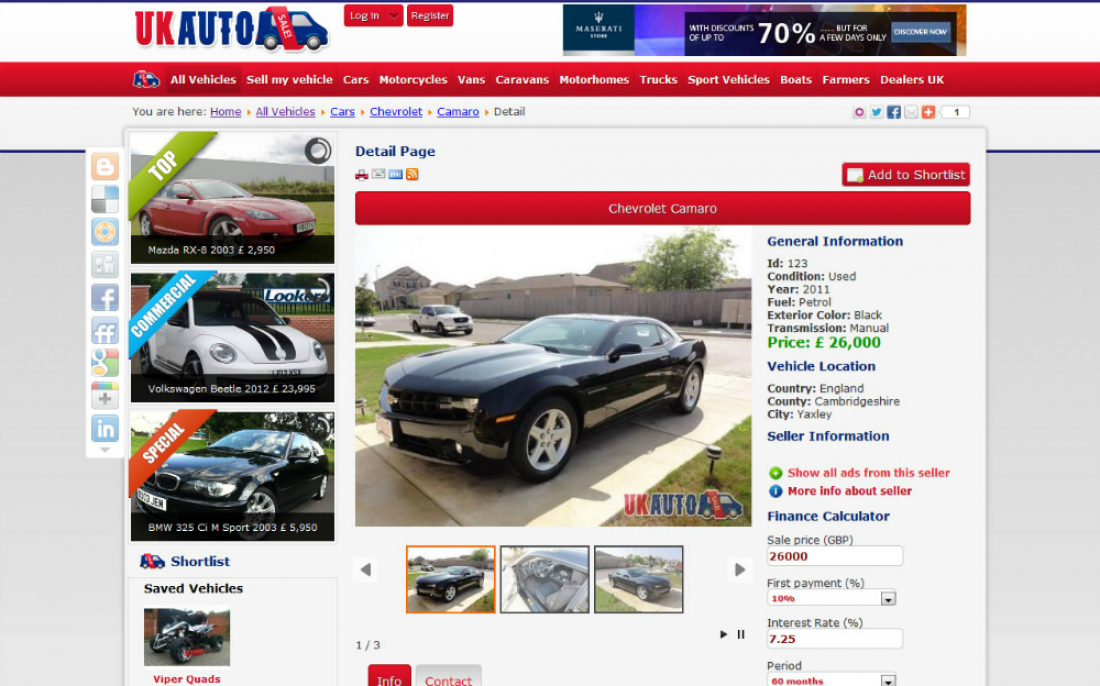 UK Auto Sale - Sell your Vehicle - Vehicles for sale