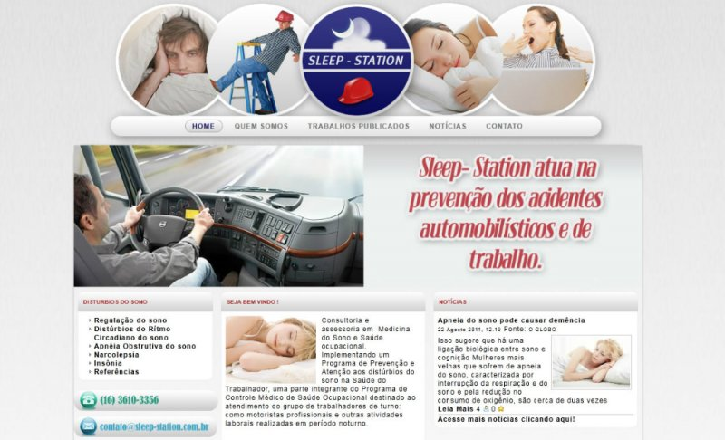 Sleep Station - Site gerenciável para clinica