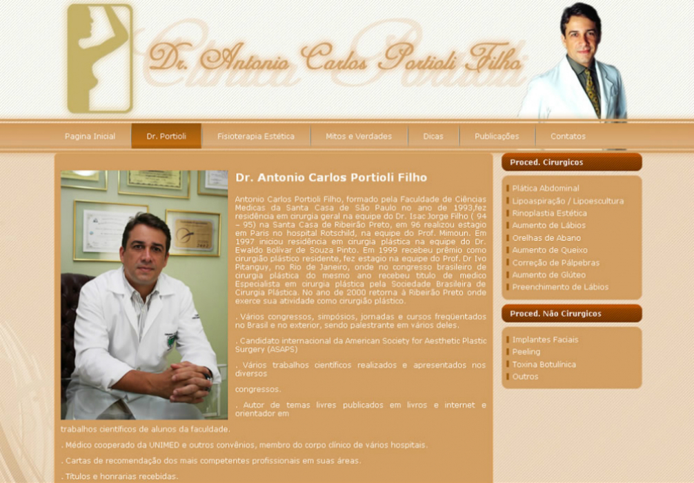Clinica Portioli - Site Institucional