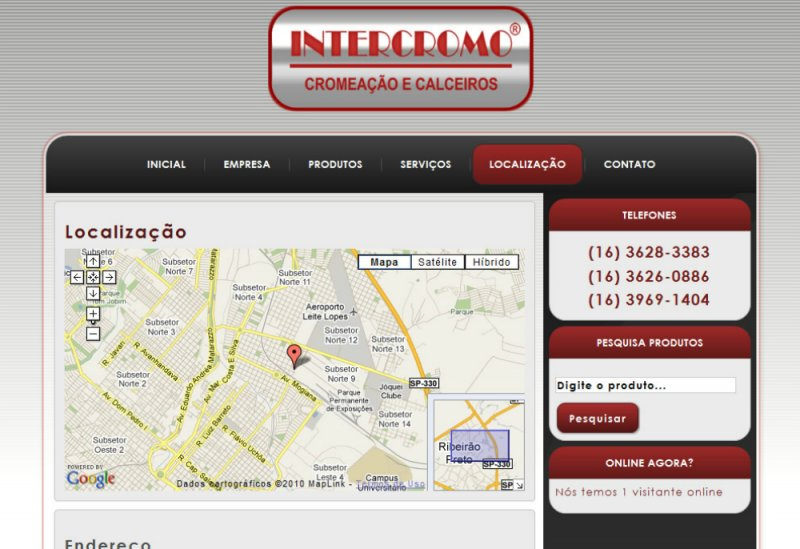 Intercromo - Site Institucional