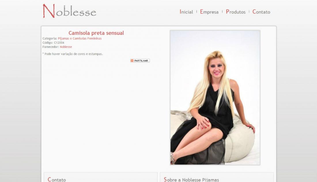Noblesse Pijamas - Site Institucional