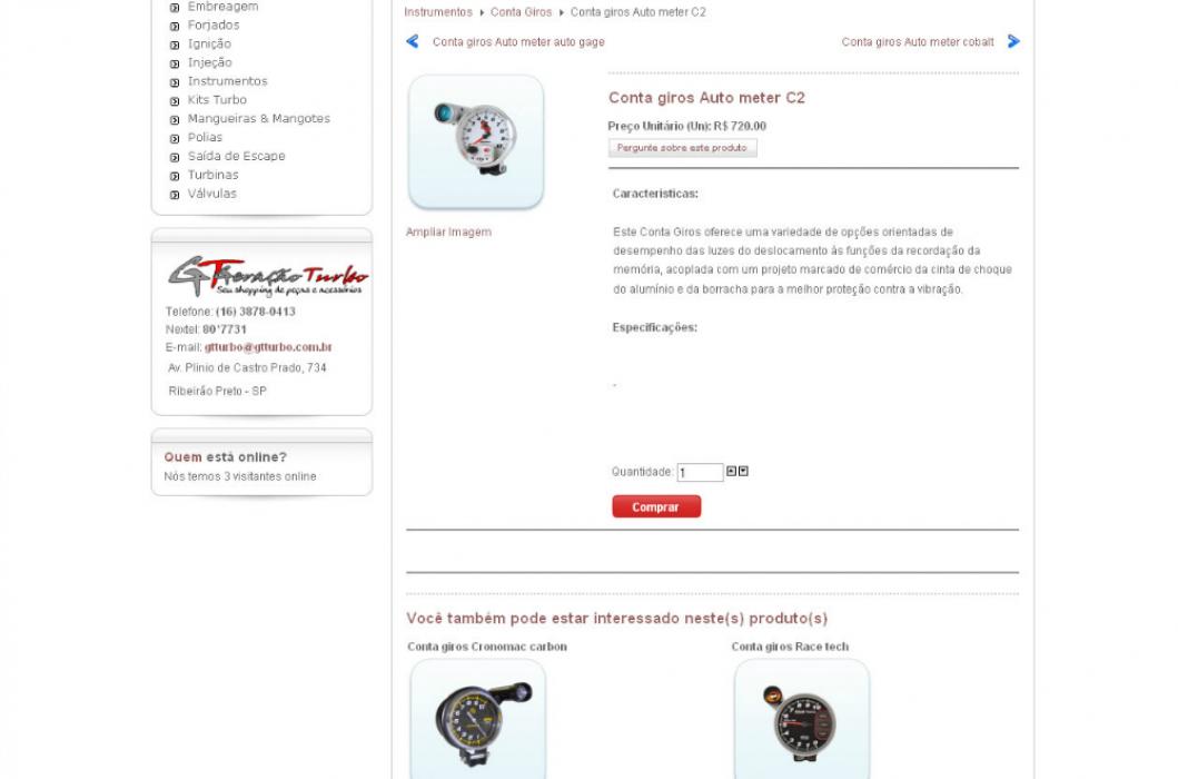 GT Turbo - Site de comércio eletrônico
