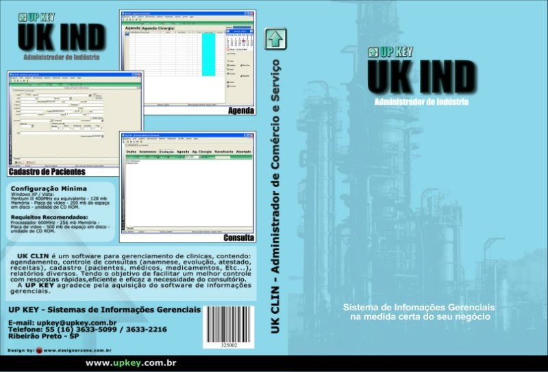 Encarte DVD do Software UK IND  - Designer Gráfico