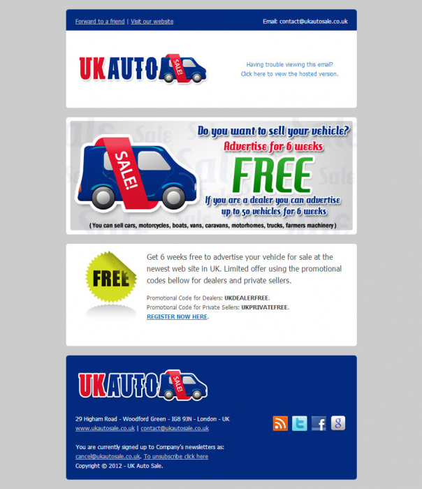 UK Auto Sale - Email maketing