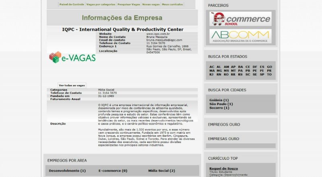 E-Vision Vagas - Classificados de empregos