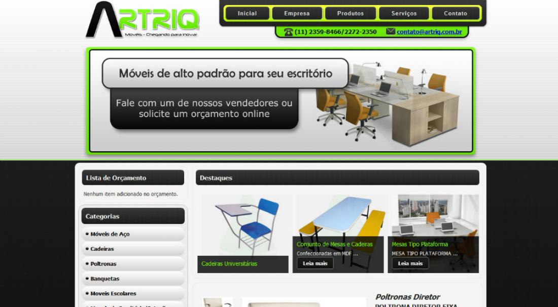 Artriq - Site com sistema de orçamento online