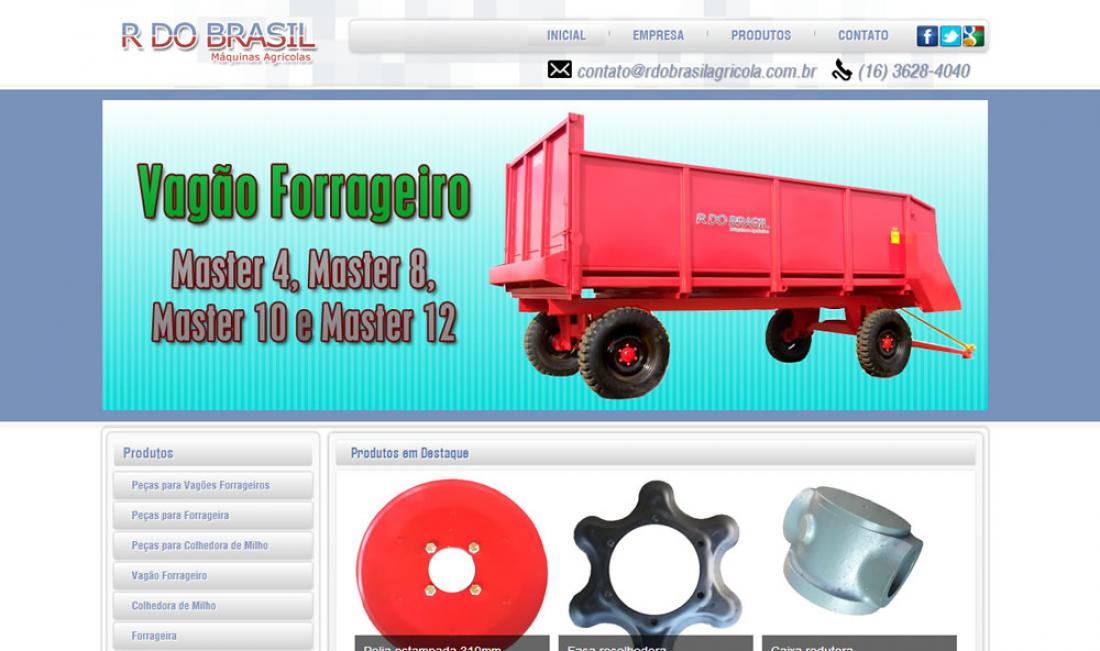 R do Brasil - Site com sistema de orçamento online