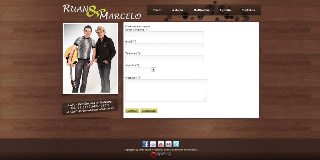 Ruan & Marcelo - Site para dupla sertaneja