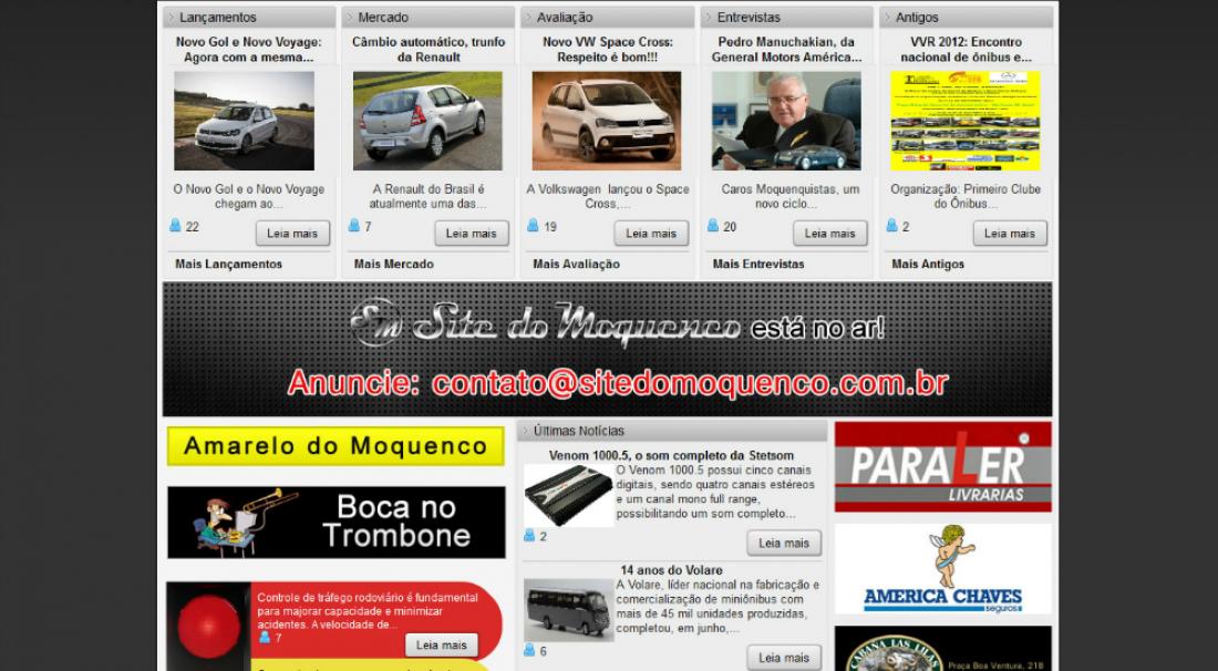 Site do Moquenco - Site de portal de notícias