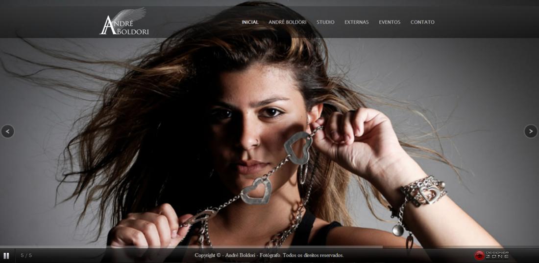 André Boldori - Criação de site para fotógrafo