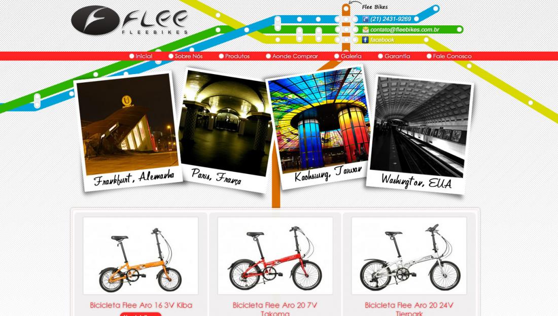 Flee Bikes - Site gerenciável