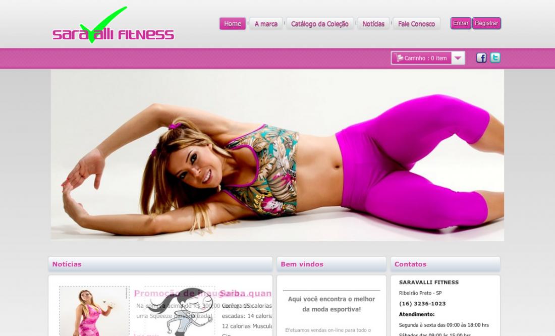 Saravalli Fitness - Comercio eletronico
