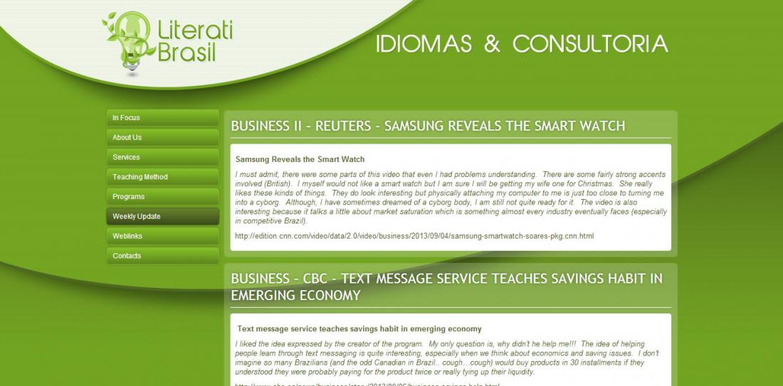 Literati Brasil - Site gerenciavel