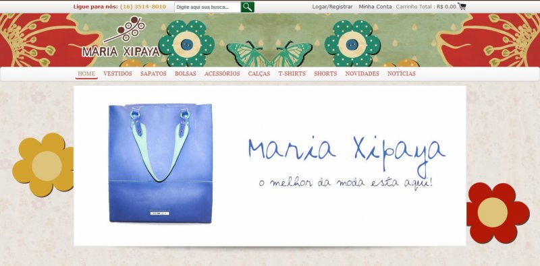 Maria Xipaya - Comercio Eletronico