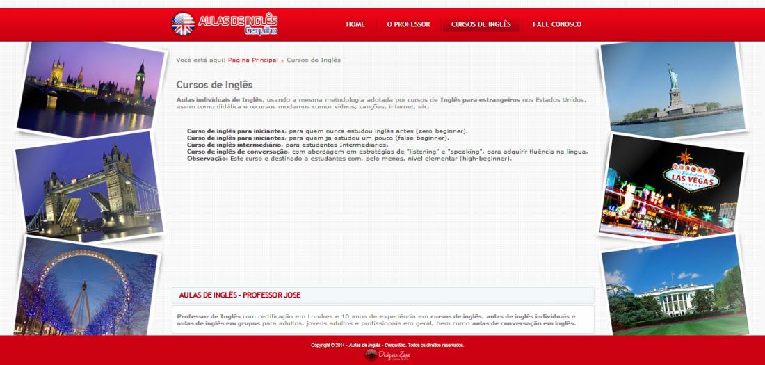 Aulas de Inglês Cerquilho - Site Institucional