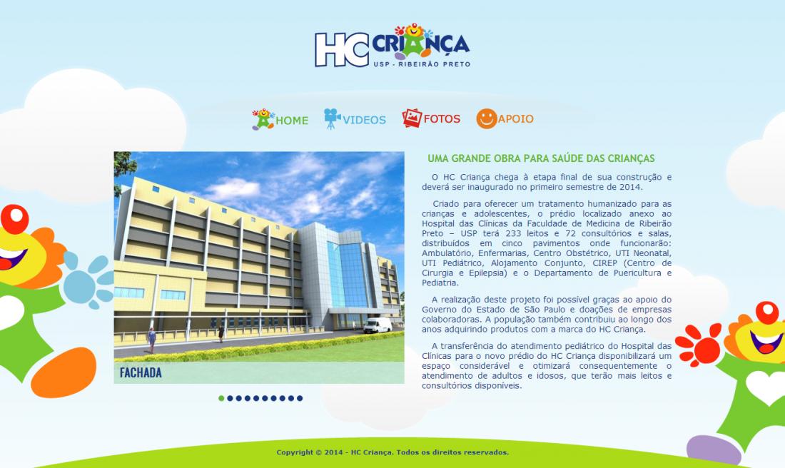 Site Institucional HC Criança