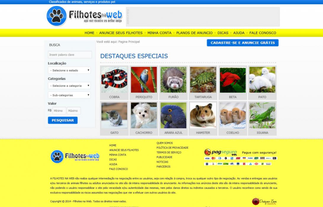 Filhotes na Web