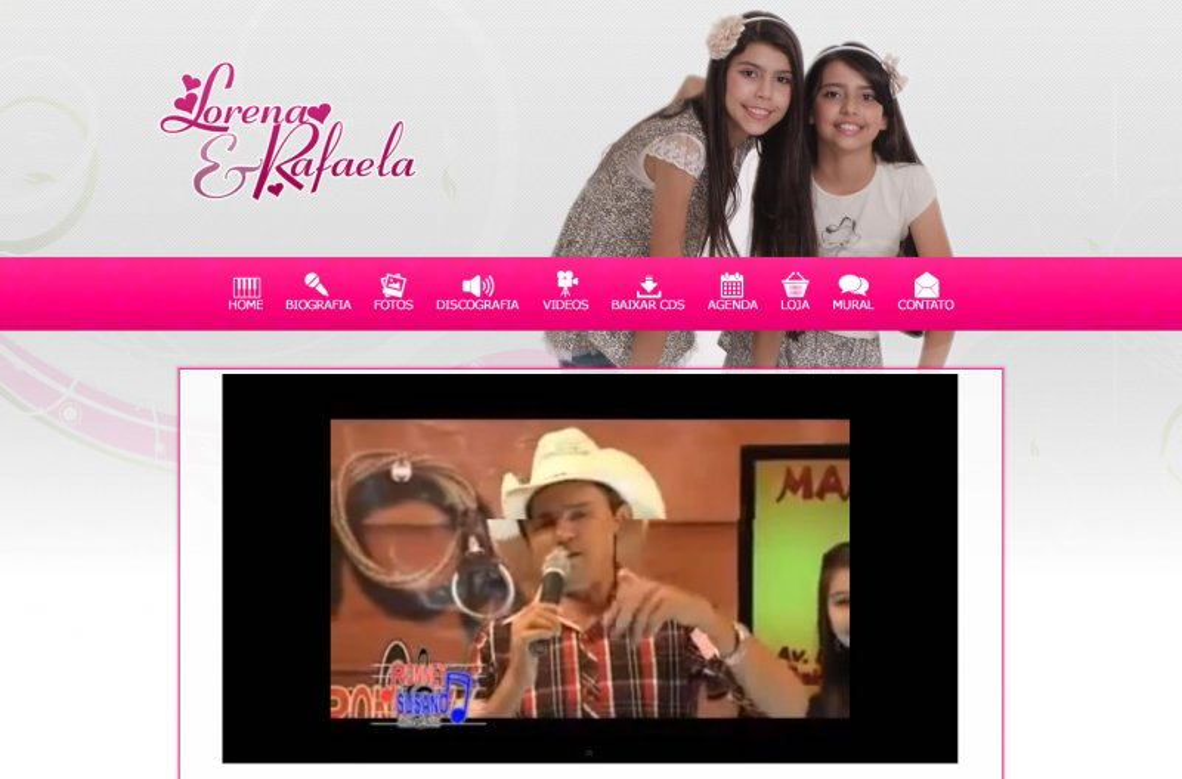 Lorena & Rafaela - Site para dupla sertaneja