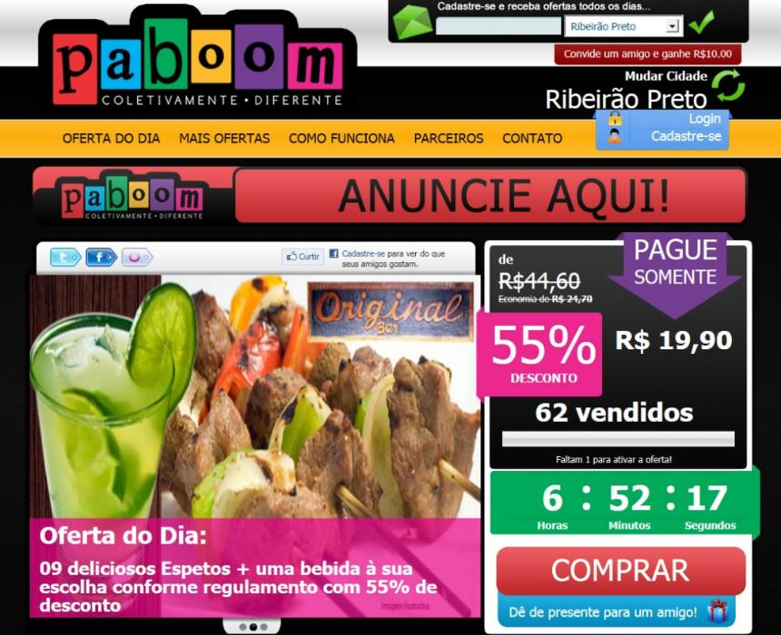 Paboom - Coletivamente diferente - Site de compras coletivas