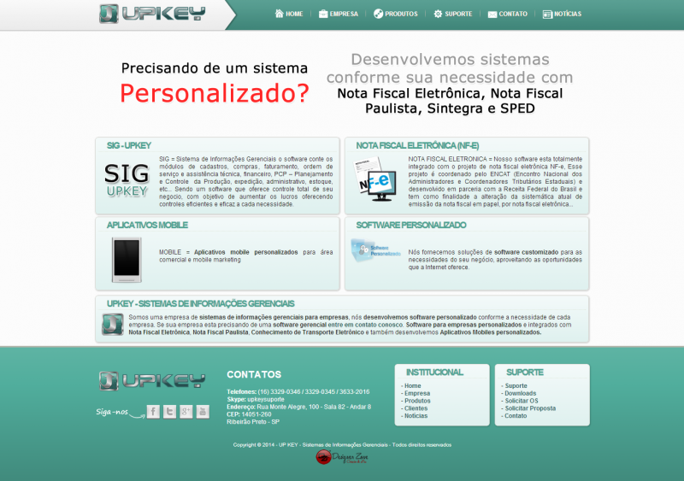 Upkey - Site Gerenciável
