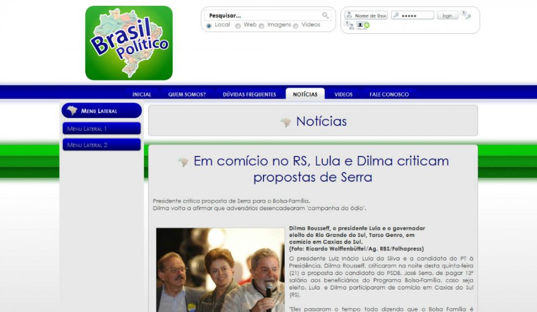Portfolio - Brasil Político - Sites gerenciáveis