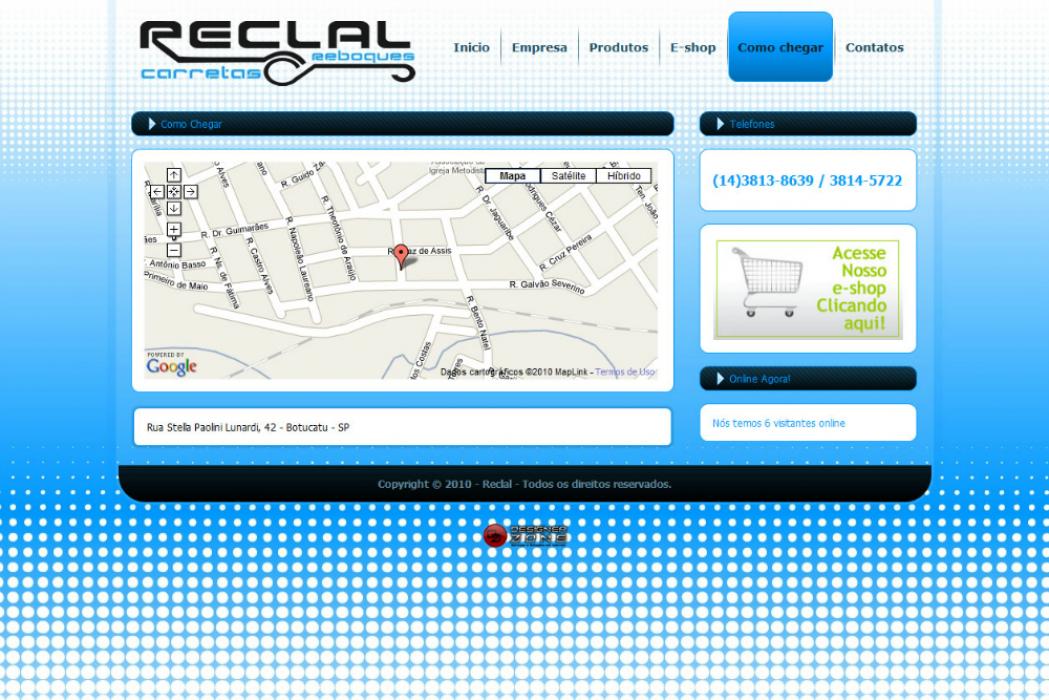 Reclal - Site gerenciável