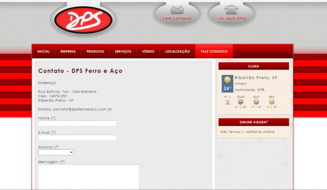 DPS Ferro e Aço - Site gerenciável