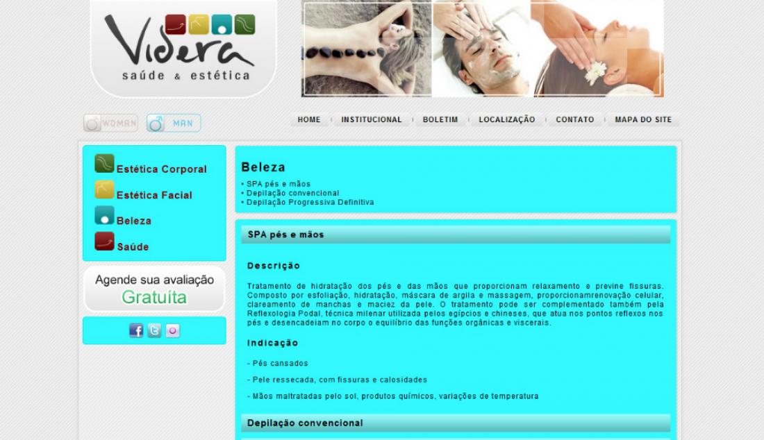 Clinica Videra - Site gerenciável