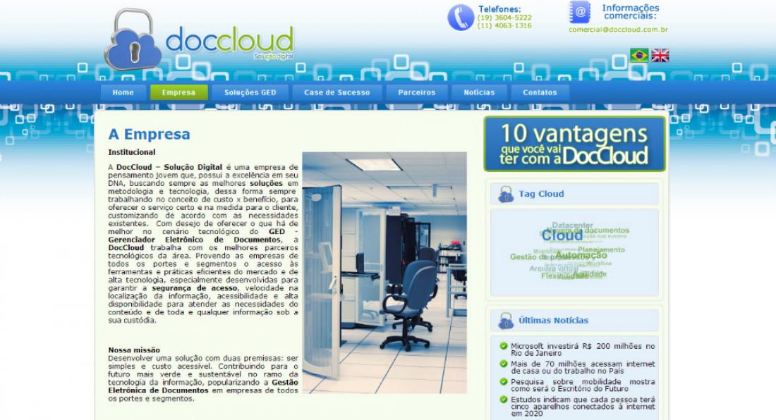 DocCloud - Site gerenciável