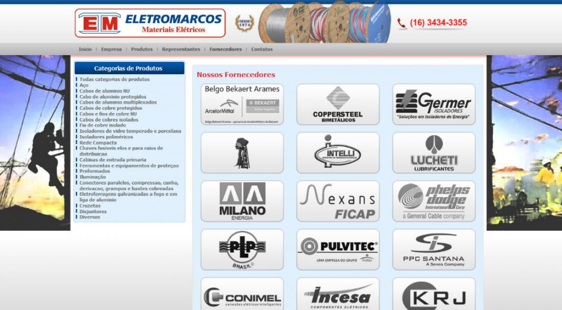 Eletromarcos - Site gerenciável