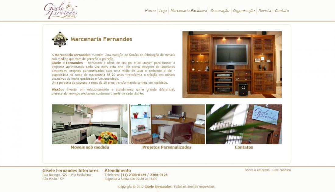 Gisele Fernandes - Site gerenciável