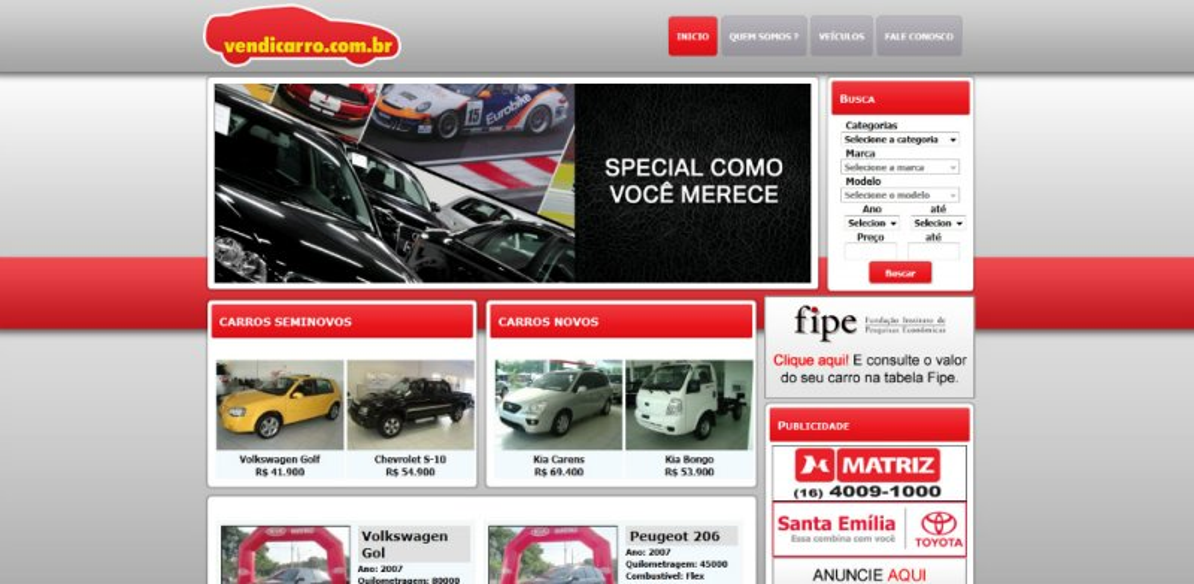 Vendicarro - Site de classificados de automóveis