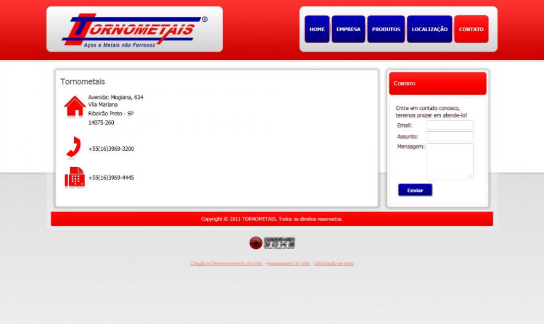 Tornometais - Site Institucional