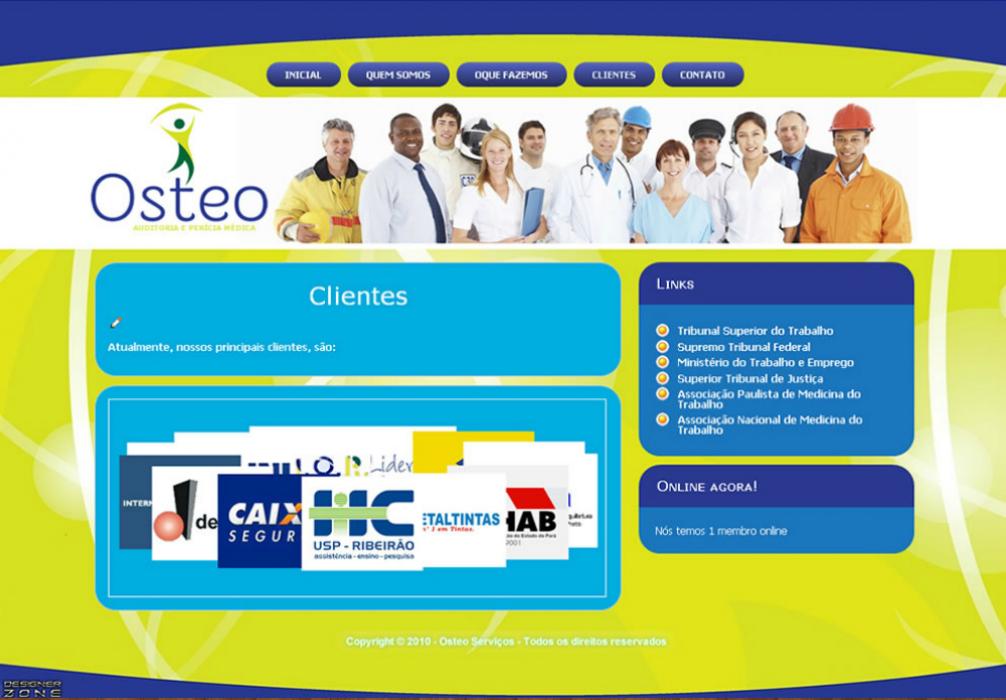 Clinica Osteo - Site Institucional