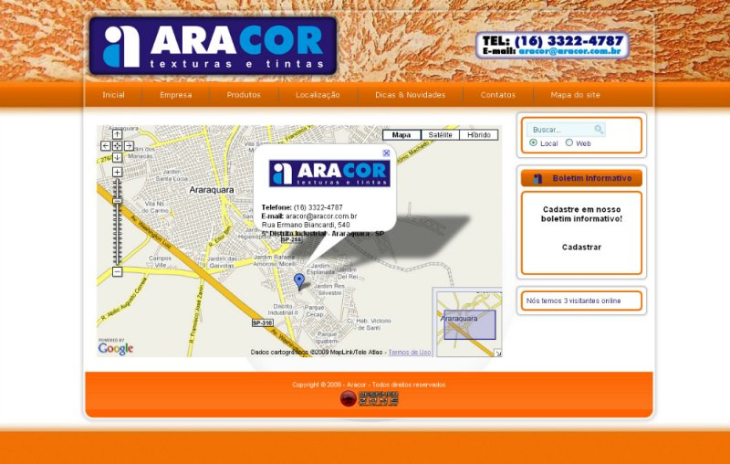 Aracor - Site Institucional