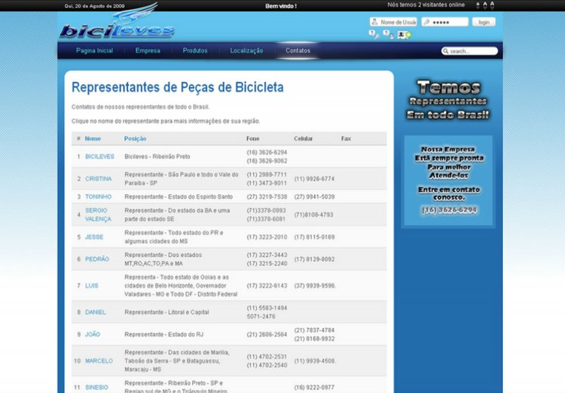 Bicileves - Site Institucional