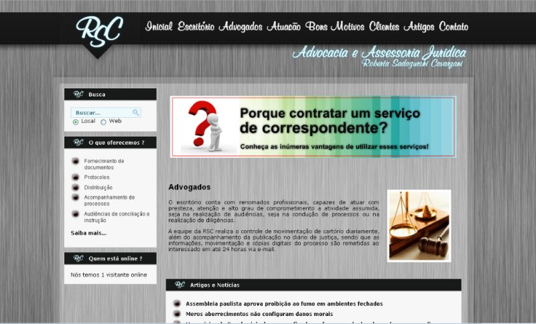 RSC Advocacia - Site Institucional