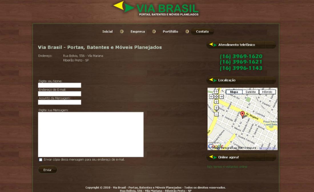 Via Brasil - Site Institucional