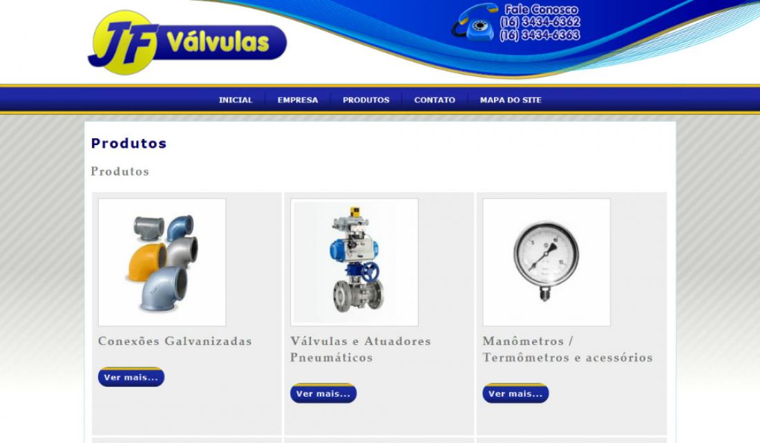 JF Válvulas  - Site Institucional
