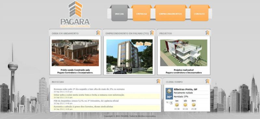 Pagara - Site para construtora